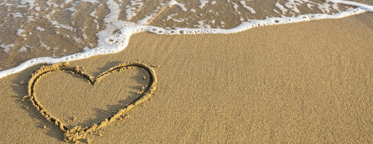 heart in sand