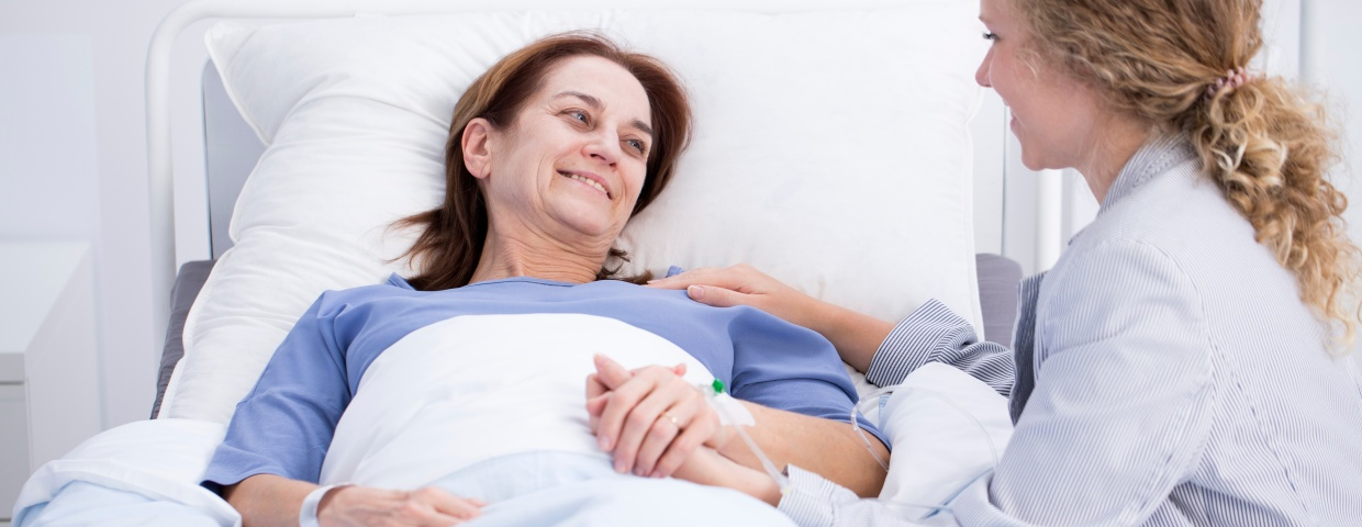 female patient recovering from heart surgery