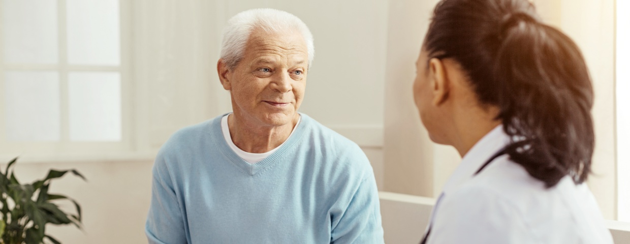 man receiving counseling
